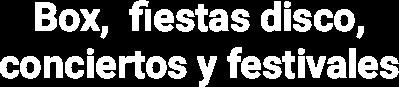 Logotipo Box, Fiestas Disco, Conciertos y Festivales