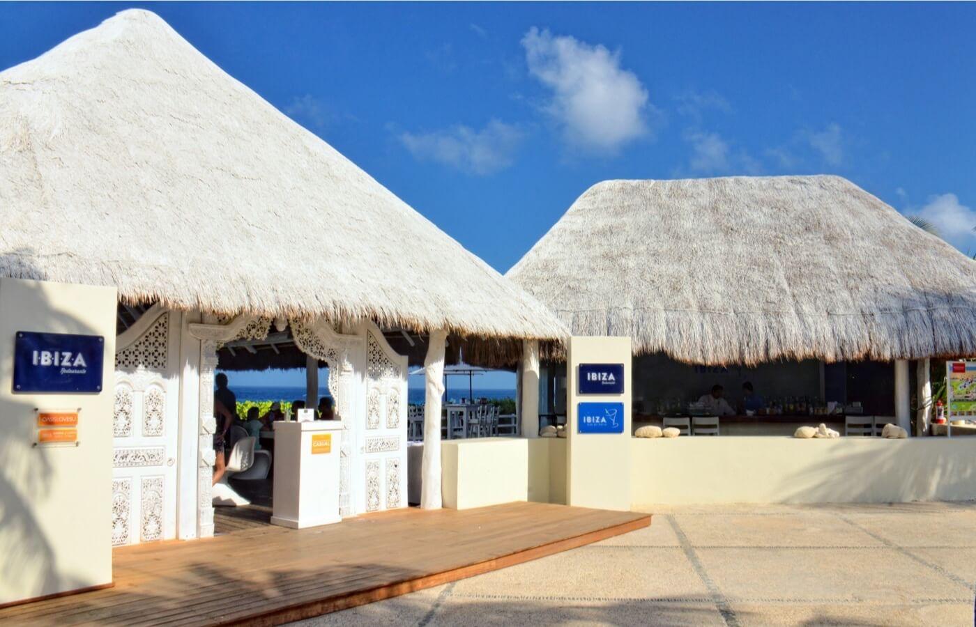 Interior view of La Placita Restaurant in Hotel Grand Oasis Cancun