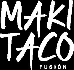 White Logo Maki Taco Restaurant