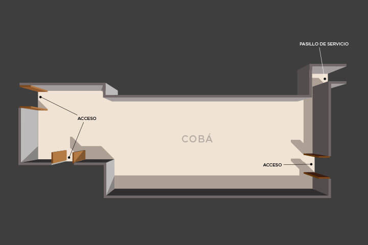 Floor plan of the lounge Cobá