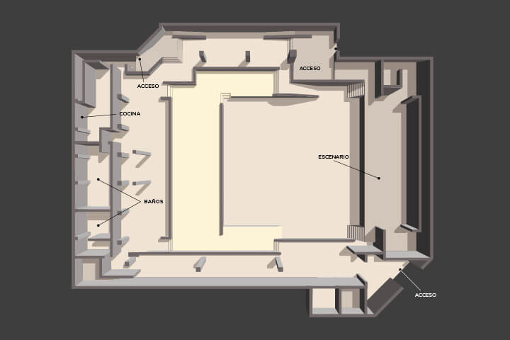 Floor plan of the lounge Oasis Arena