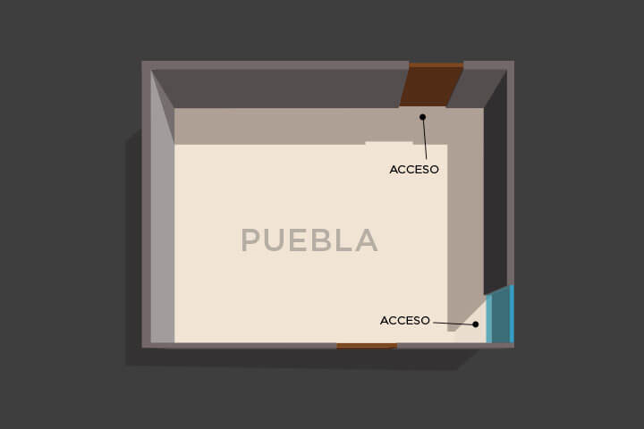 Floor plan of the lounge Puebla