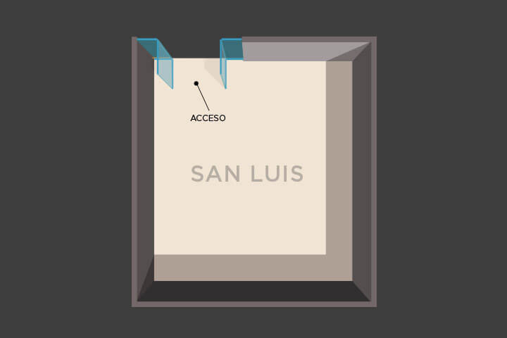Floor plan of the lounge San Luis