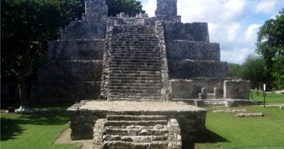 De tour por las ruinas mayas de Cancún.