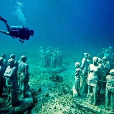Imágen tour Diving in MUSA Cancun Underwater Museum
