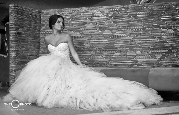 Photo session bride in black and white dress wedding photo shoot