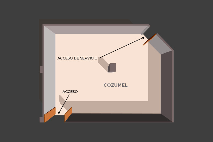 Floor plan of the lounge cozumel