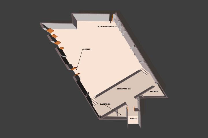 Floor plan of the lounge Grand Salon