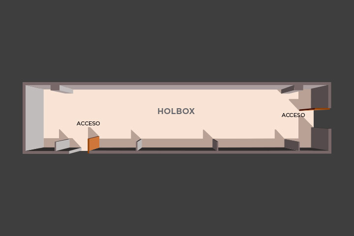 Floor plan of the lounge holbox