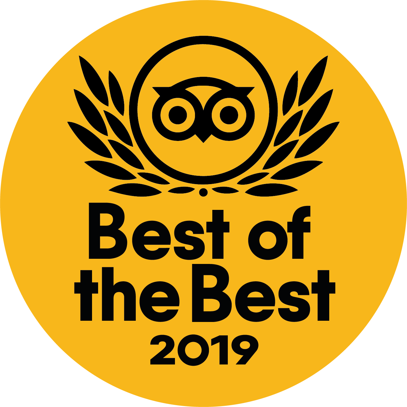 """Travellers' Choice """"Best of the Best"""" 2019"""