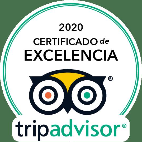 TripAdvisor Ganador Certificado de Excelencia 2020