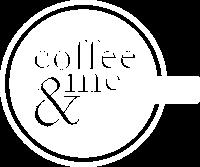 White Logo Coffee & Me Bar