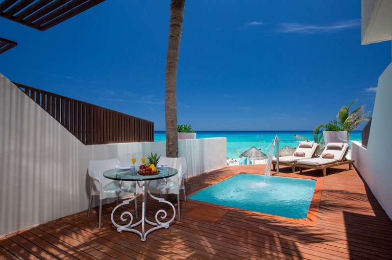 Terraza de Master Suite con alberca privada en hotel The Sian Ka'an at Grand Sens