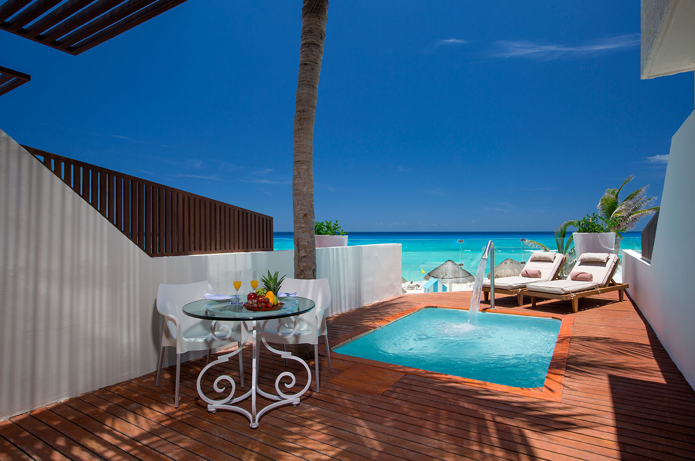 Master Suite terrace with private pool at The Sian Ka'an at Grand Sens hotel