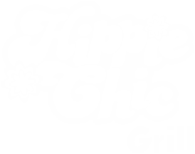 Logo Blanco Restaurante Hippie Chic