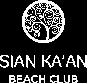 Logo Blanco Restaurante Sian ka'an beach club