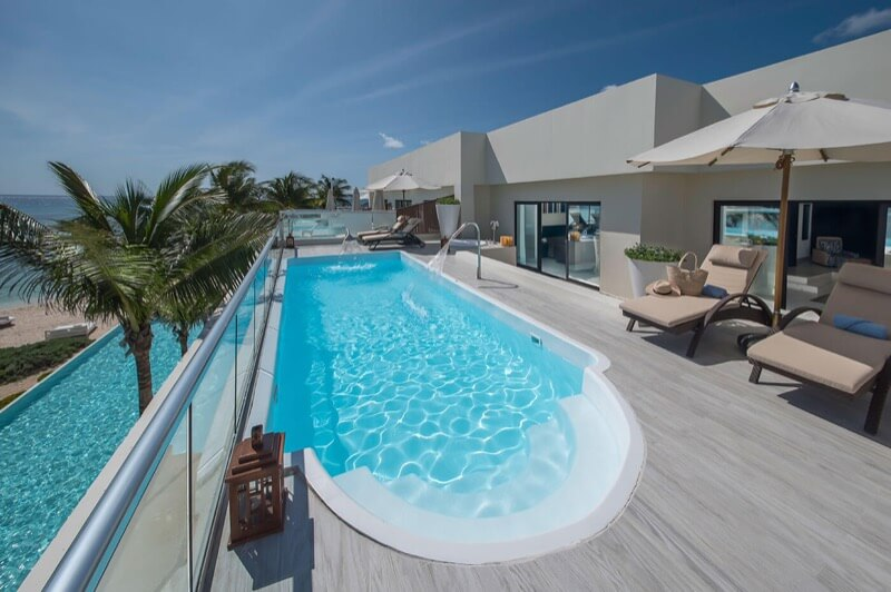 Presidential room terrace with private pool at The Sian Ka'an at Grand Tulum hotel