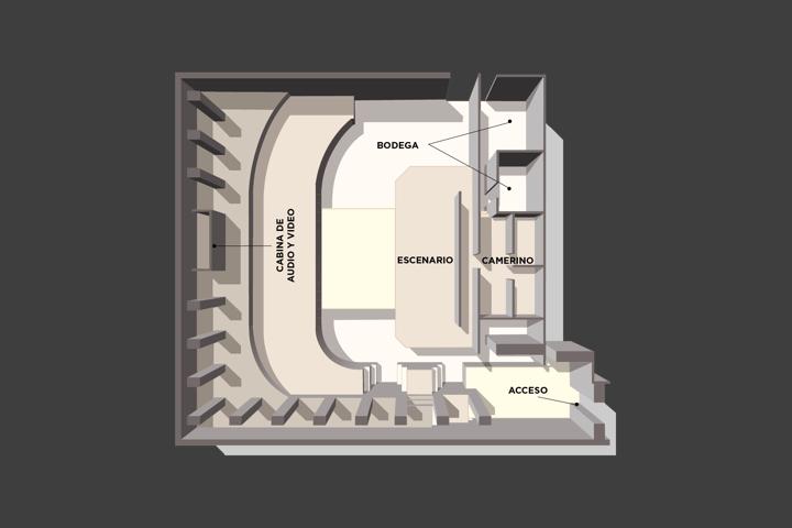 Floor plan of the lounge Salón Maya