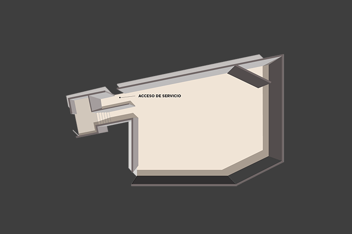 Floor plan of the lounge Salón Tulum