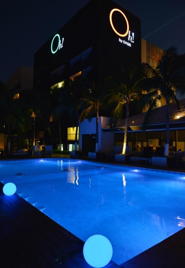 Equipos para hacer ejercicio en gimnasio en Hotel Oh! Cancun The Urban Oasis