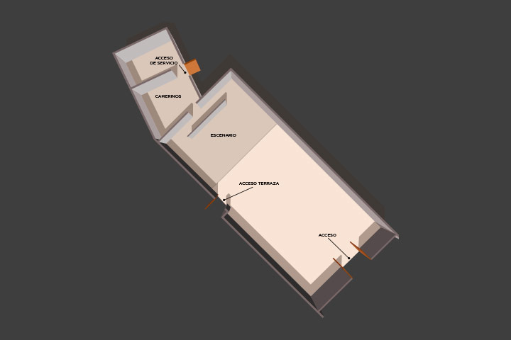 Floor plan of the lounge CHC